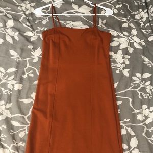 Rust fall dress
